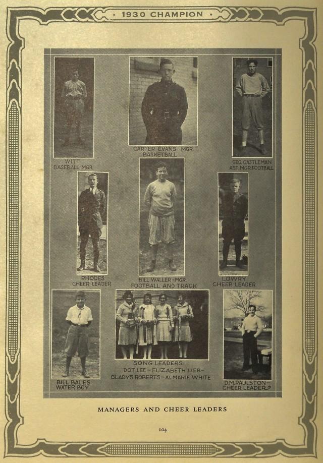 Managers and Cheerleeders 1930